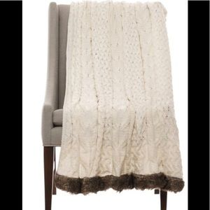 Fur lined throw new Nicole miller last one!!!